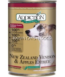 ADDICTION HOL VENISON & APPLES DOG 390G