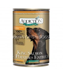 ADDICTION KING SALMON & POTATOES DOG 390G