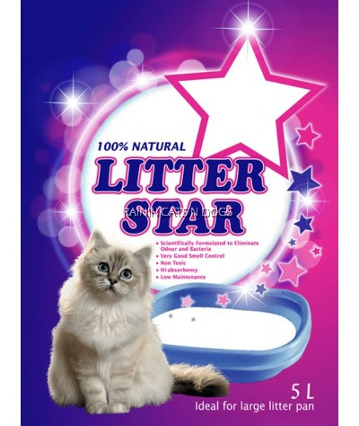 LITTER STAR GREEN SILICA GEL CAT LITTER 5L (NON SCENTED)