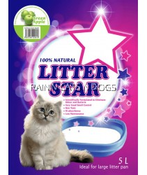 LITTER STAR GREEN SILICA GEL CAT LITTER - APPLE 5L