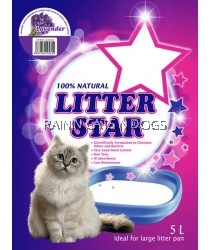 LITTER STAR SILICA GEL CAT LITTER - LAVENDER 5L
