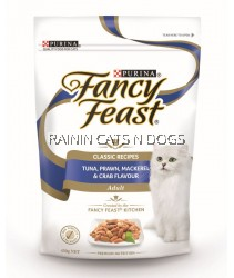 FANCY FEAST DRY TUNA  PRAWN  MACKEREL & CRAB 450G