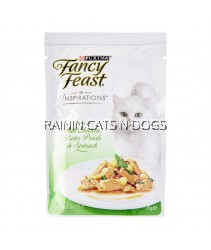 FANCY FEAST INSPIRATIONS CHICKEN, PASTA PEARLS & SPINACH 70G