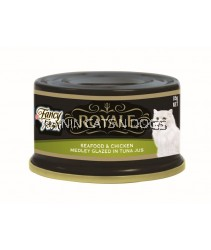 FANCY FEAST SEAFOOD & CHICKEN MEDLEY GLAZED IN TUNA JUS CAN 85G