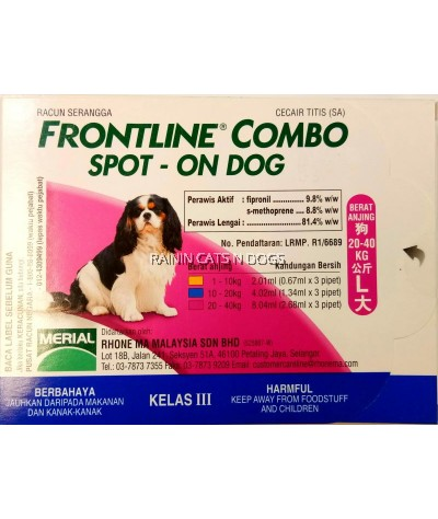 FRONTLINE COMBO SPOT ON DOG (L)