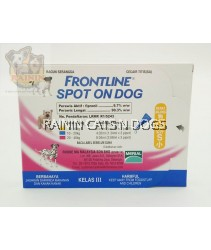 FRONTLINE SPOT ON DOG - SMALL (1-10KG) (3x PIPETTES)