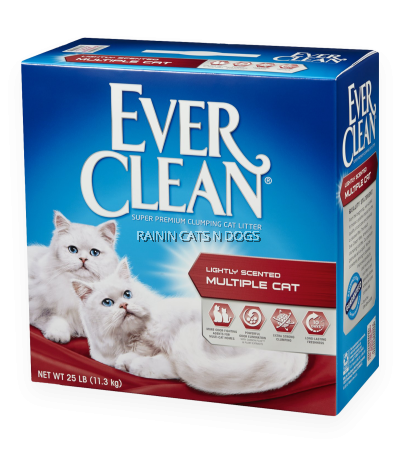 EVER CLEAN MULTIPLE CAT SCENTED 25LB