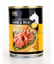 BARK LAMB & RICE DOG CAN 375G
