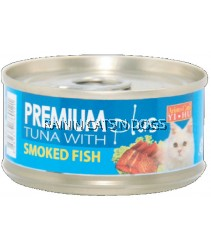 ARISTOCAT PREMIUM TUNA W/SMOKED FISH CAN 80G