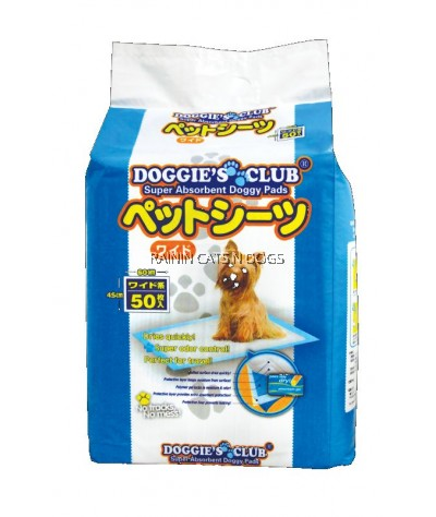 DOGGIE CLUB DOG TRAINING PAD - 45x60CM (50's)