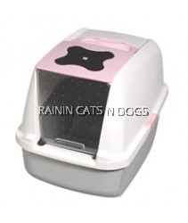 CATIT HOODED CAT PAN - PINK