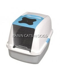 CATIT HOODED CAT PAN - BLUE