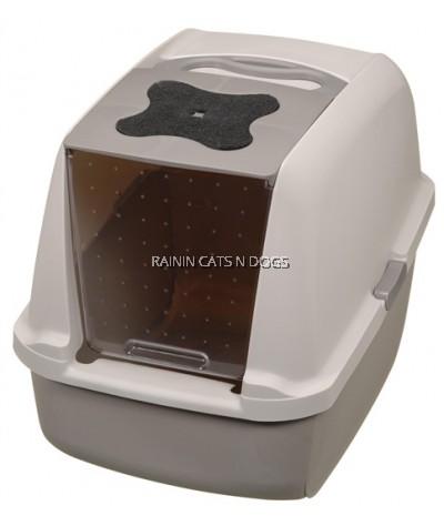 CATIT HOODED CAT PAN - GREY