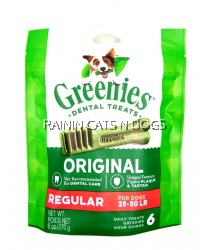 GREENIES REGULAR DENTAL TREATS 170g (6PCS)