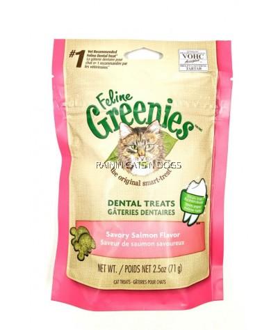 FELINE GREENIES DENTAL TREATS - SAVORY SALMON (71G)