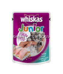 24X WHISKAS POUCH JUNIOR TUNA 85G