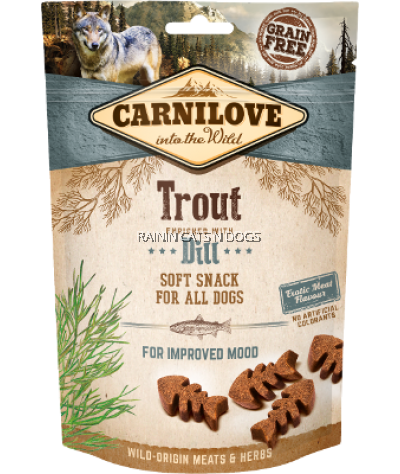 CARNILOVE TROUT ENRICHED WITH DILL SOFT SNACK FOR DOGS (200G)