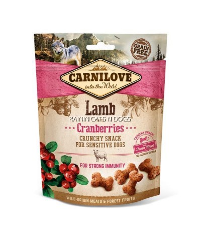 CARNILOVE LAMB WITH CRANBERRIES CRUNCHY SNACK FOR DOG (200G)