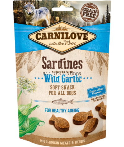 CARNILOVE SARDINES ENRICHED WITH WILD GARLIC SNACK FOR DOGS (200G)