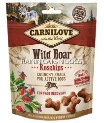 CARNILOVE WILD BOAR WITH ROSEHIPS CRUNCHY SNACK (200G)