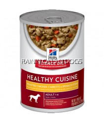 6 x Hill's Science Diet Adult Healthy Cuisine Roasted Chicken, Carrots & Spinach Stew Dog Can Food (354g)