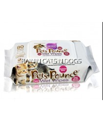 BIOION PETS POUNCE WET WIPES (80 SHEETS)