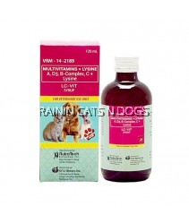 LC-VIT MULTIVITAMINS + LYSINE SYRUP FOR DOGS & CATS (120ML)