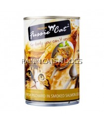 24X FUSSIE CAT FRESH PILCHARD IN SMOKED SALMON JELLY 400G