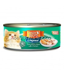 24X Cindy's Recipe Original Tuna White Meat With Chicken Canned Cat Food (80g)
