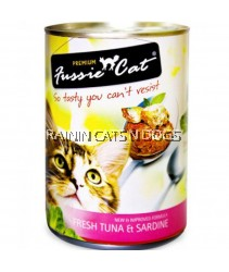 24X FUSSIE CAT CAN TUNA & SARDINE 400G