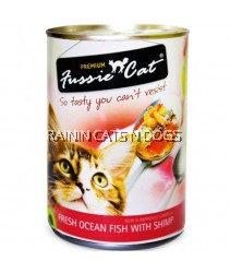 24X FUSSIE CAT FRESH OCEAN FISH WITH SHRIMP CAN 400G