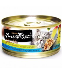24X CANS FUSSIE CAT PREMIUM TUNA WITH SMALL ANCHOVIES 80g